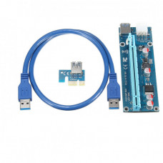 Райзер Riser PCI-E, 006C, 1x to 16x, 6 PIN, 60см., для майнінгу PCI-Express б/в