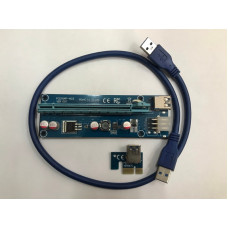 Райзер Riser PCI-E, 007, 1x to 16x, 6 PIN, 60см., для майнінгу PCI-Express б/в