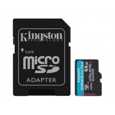Kingston 64GB microSDXC Canvas Go Plus 170R A2 U3 V30 Card