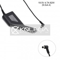 Car +USB QC3.0 Sony 19,5V 2.37a, 3.42a, 4.74a 90W 6.0mm*4.4 mm
