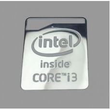 Наклейка Intel Core i3 Silver Chrome (metal)