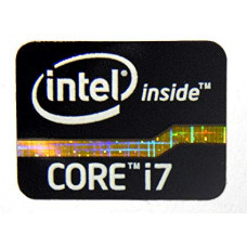 Наклейка Intel Core i7 2x1,5cm Black