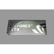 Наклейка nVIDIA GeForce GTX Silver Chrome (metal) 3,4x1,5