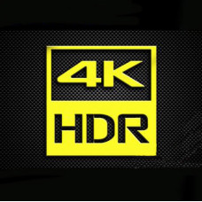 Наклейка 4K HDR Gold (metal)