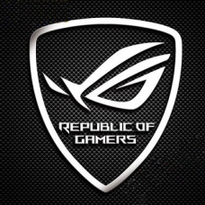 Наклейка Asus Republic of Gamers ROG 30x25mm Silver Chrome Sticker Metal