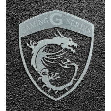 Наклейка MSI Dragon Shield silver Metal 4.5x3.7cm