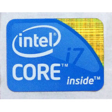 Наклейка intel core i7 old gen blue