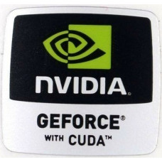 Наклейка nVIDIA GEFORCE with CUDA