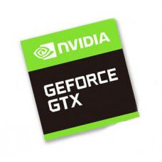 Наклейка nVIDIA GeForce GTX 17x18mm
