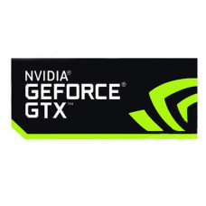 Наклейка nVIDIA GeForce GTX Black 35x15mm