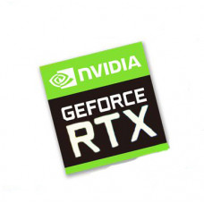 Наклейка nVIDIA GeForce RTX 17x18mm